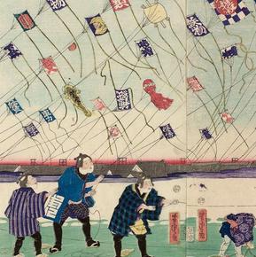 凧揚げ、お正月、江戸時代