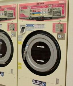 コインランドリー、洗濯乾燥機、時間