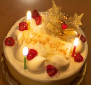 クリスマスケーキ、ろうそく、、豆知識、サイズ